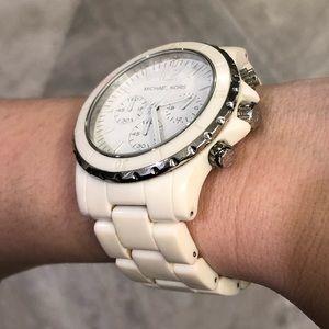 Michael Kors white acrylic watch
